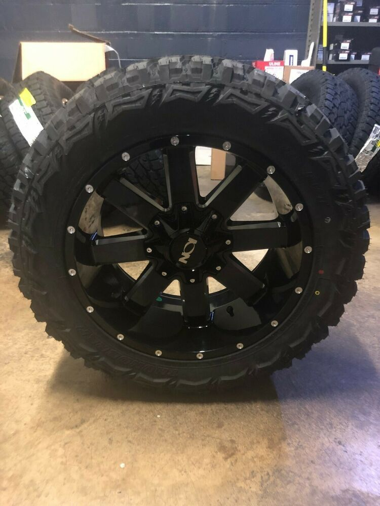 5 20x10 Ion 141 33 Mt Black Wheel Tire Package 5x5 Jeep