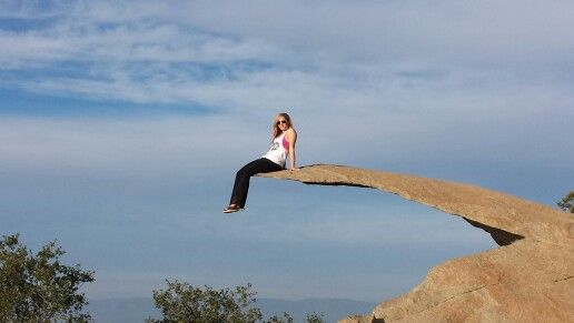 On top of the potato chip rock