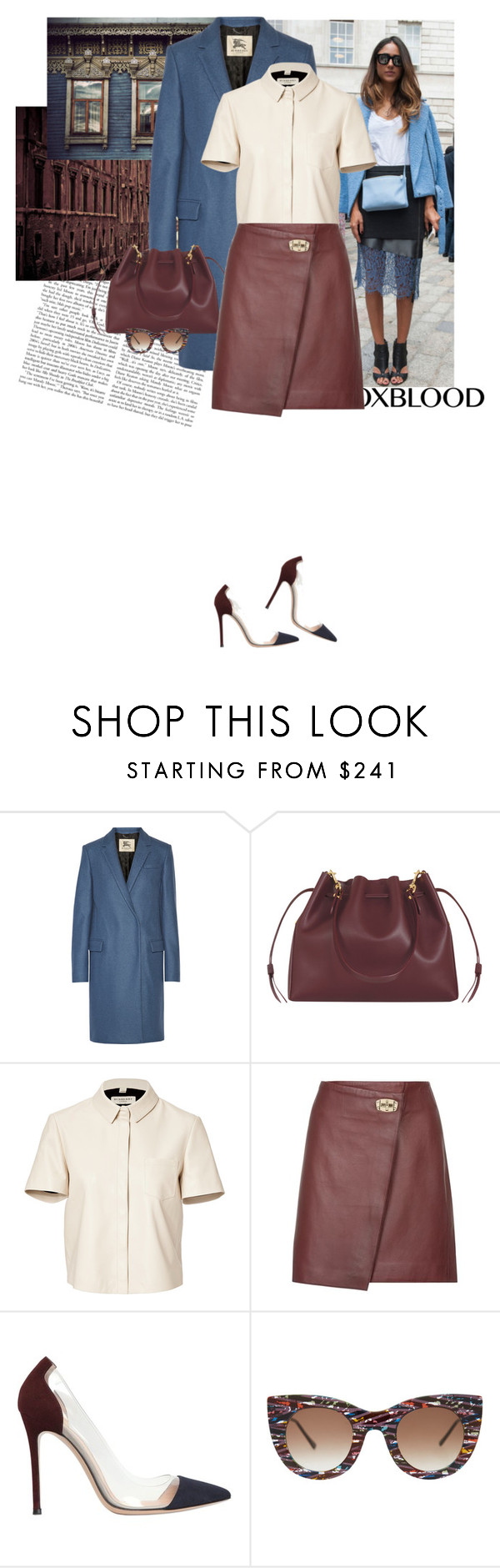 """""""""""Society often forgives the criminal; it never forgives the dreamer."""" - Oscar Wilde"""" by hil4ry ❤ liked on Polyvore featuring Burberry, Sophie Hulme, Reiss, Gianvito Rossi and Thierry Lasry"""