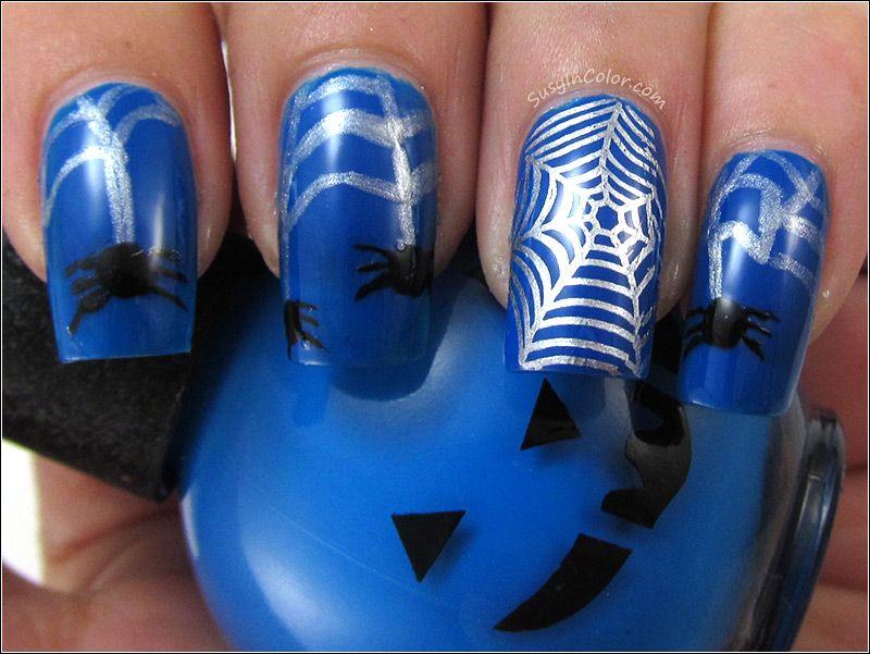 migi nail art - Google Search Spider web