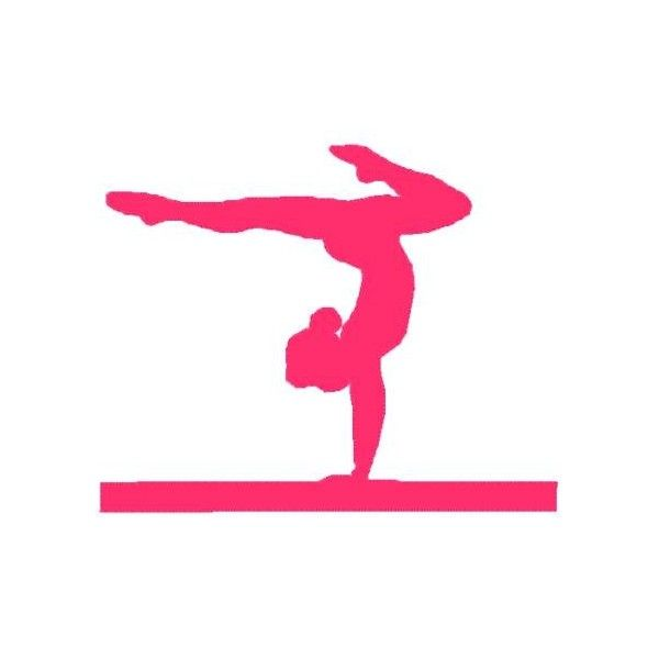 Gymnastic Silhouette Decals Pink Gymnastics Silhouette