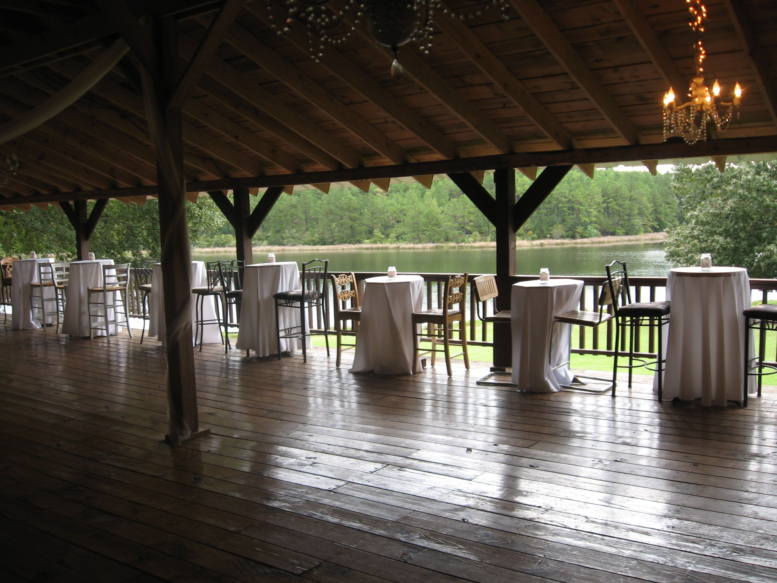 Cochino Lodge Deck for Dancing and viewing the lake