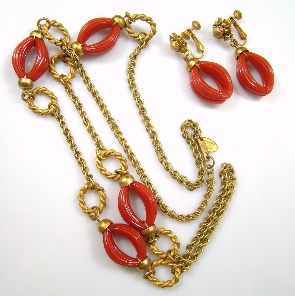 Miriam Haskell Vintage Gold Rope Chain Necklace