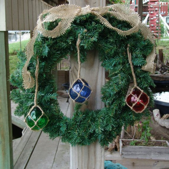 nautical fishing float holiday rornaments coastal christmas decor perfect for everyday beach decorating