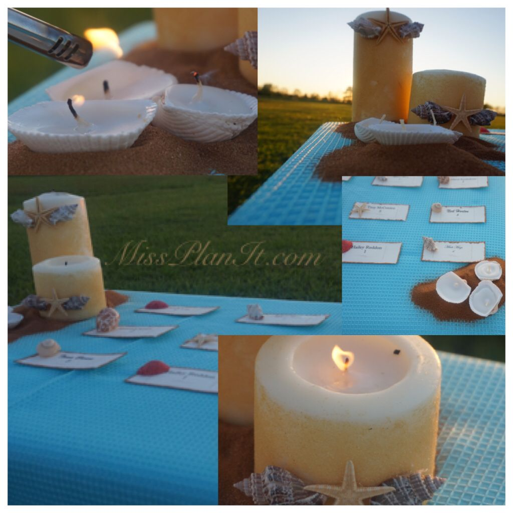 Teal beach wedding  Letus Set The Table Tune in tomorrow to see it beach wedding