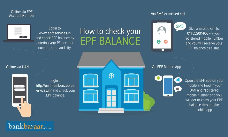 Check EPF Balance Online Online infographic, Online, Balance