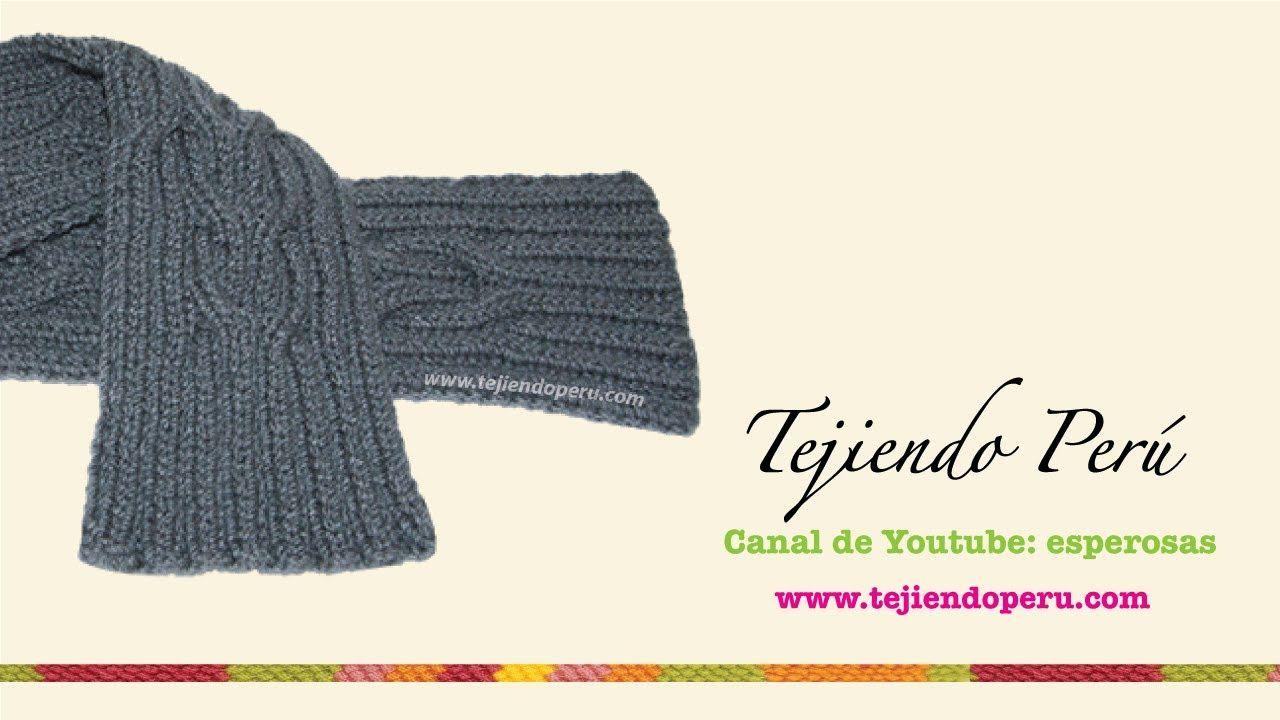 Dos agujas: cómo tejer los bordes para bufandas o jerseys | Punto y ...