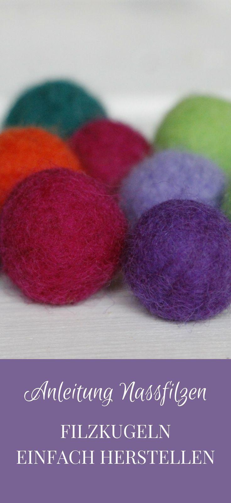 Herbstdeko fürs Fenster: Filzkugel-Mobile mit Naturmaterialien - Lavendelblog