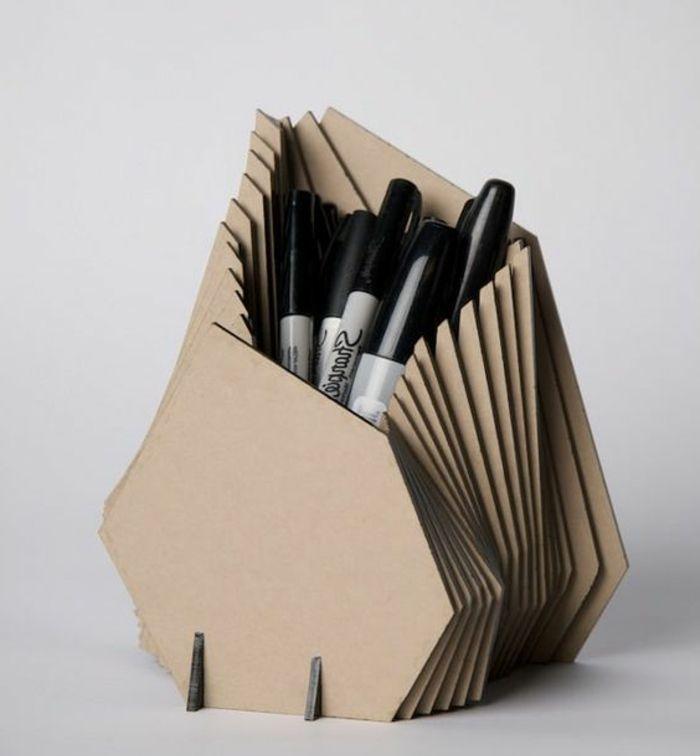 1001 id es pour fabriquer un pot crayon adorable soi m me organiser les fournitures de. Black Bedroom Furniture Sets. Home Design Ideas