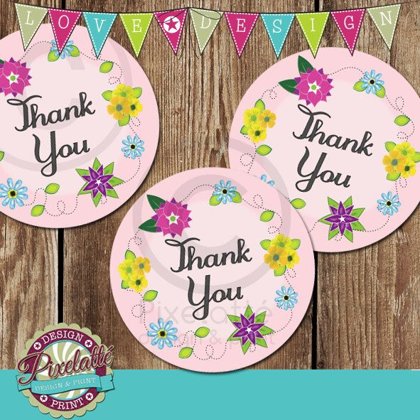 printable label template thank you stickers or tags by pixelatteuk