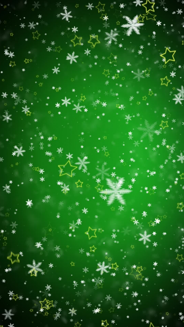 Hd 3d Wallpaper Mobile9 Tap Image For More Christmas Wallpapers Green Snowflakes