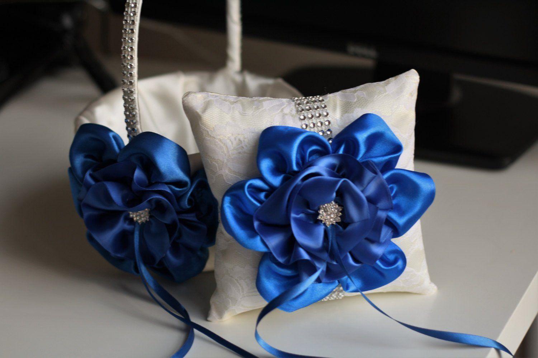 Amazon Alex Emotions Big Flower Collection Royal Blue Ivory