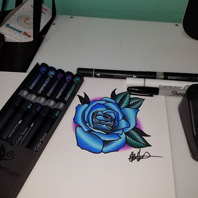 esquel3to i love these markers they blend so well and work great on bristol