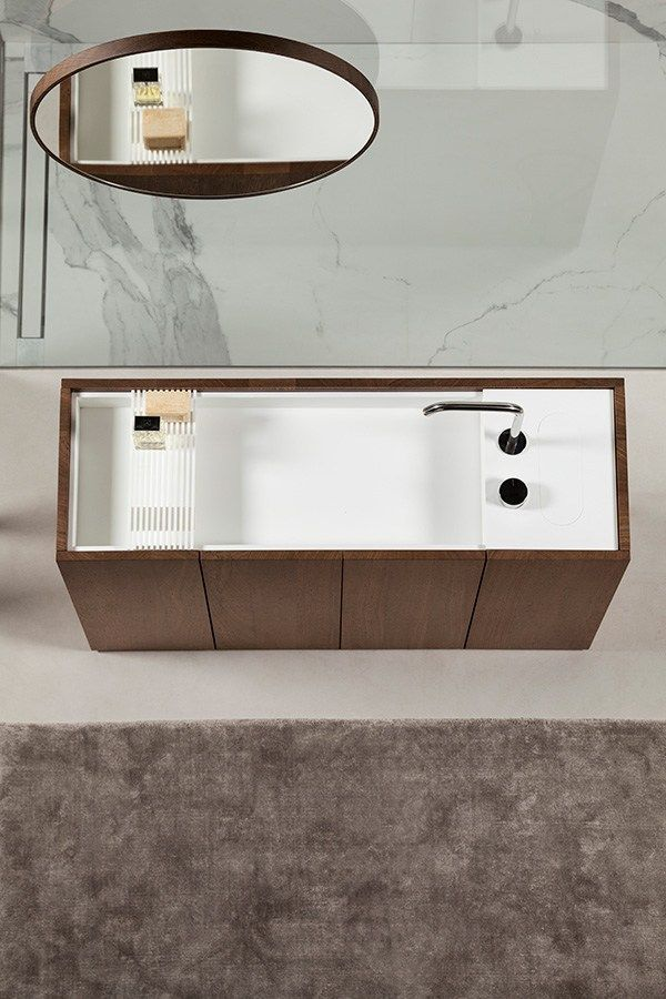 Modulo 30 Mobile Lavabo In Legno By Makro Bathroom Furniture