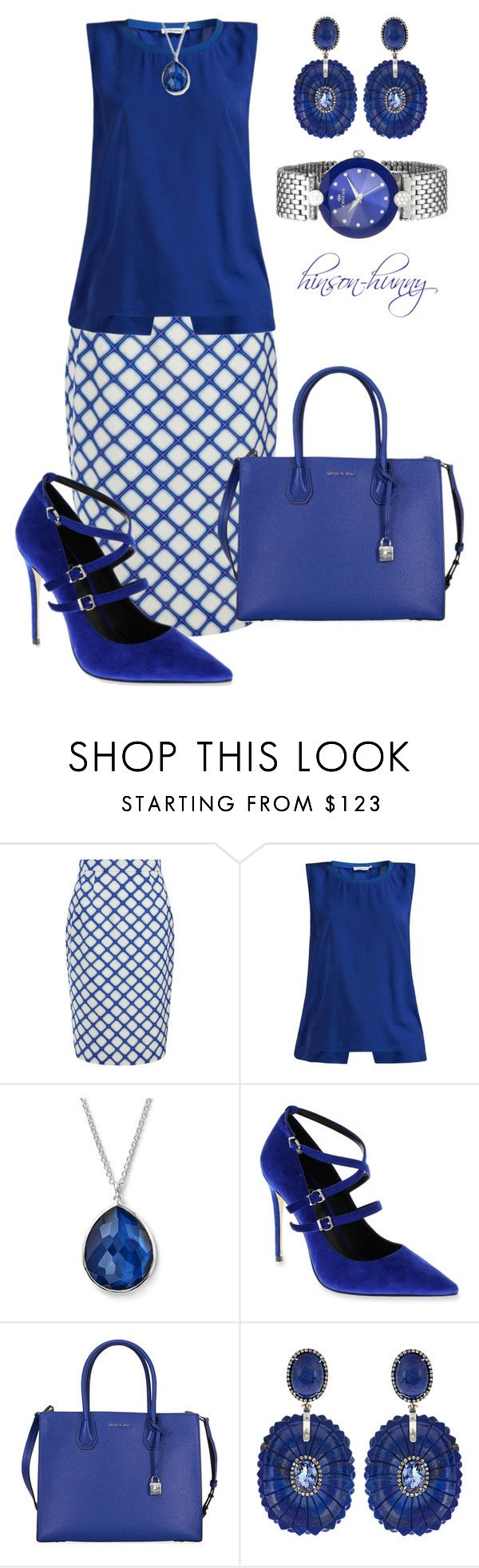 """""""Blueberry muffin"""" by hinson-hunny ❤ liked on Polyvore featuring Jonathan Saunders, J.Lindeberg, Ippolita, Nicole Miller, Michael Kors and Silvia Furmanovich"""
