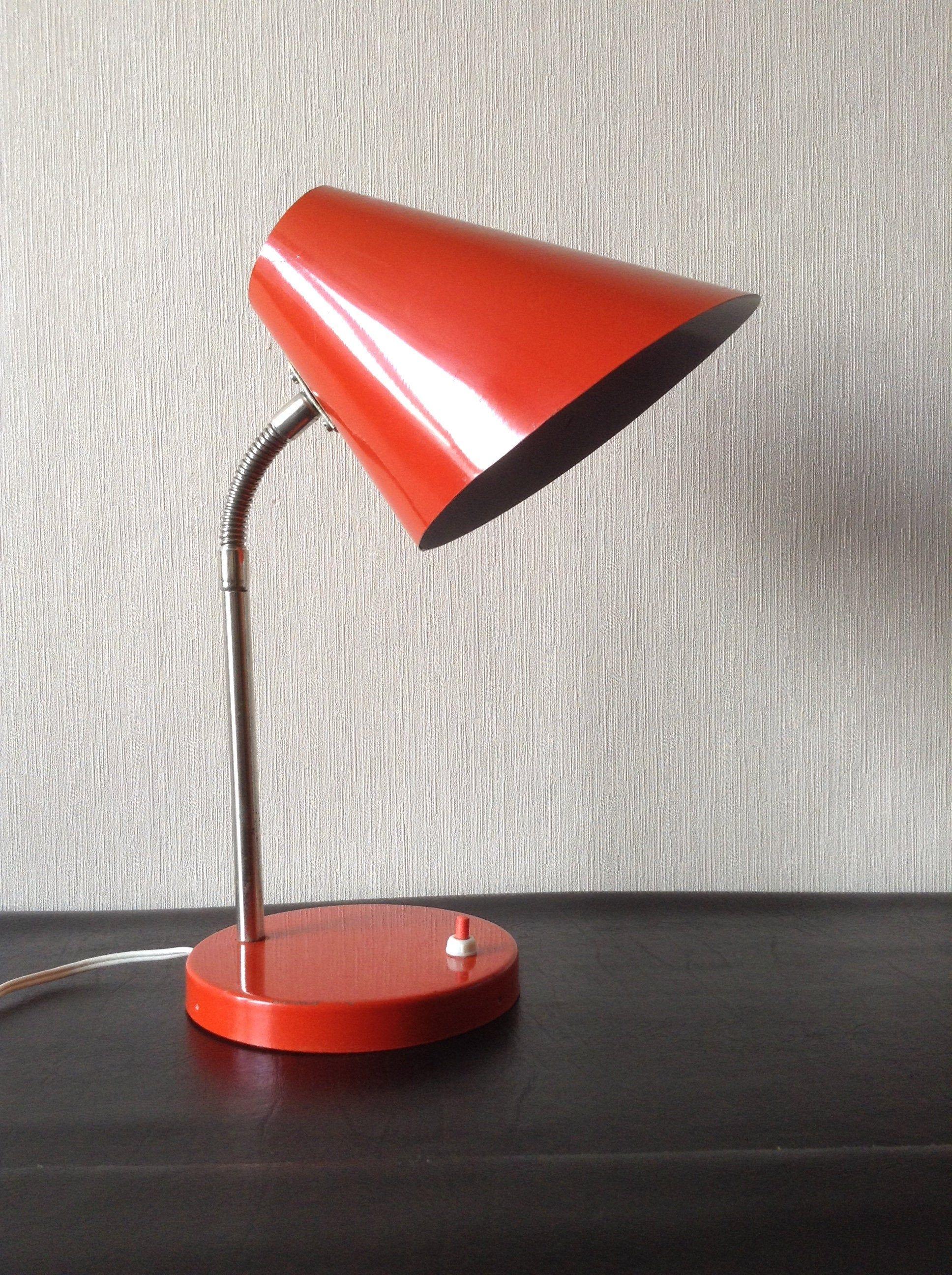 Vintage Metal Gooseneck Desk Lamp
