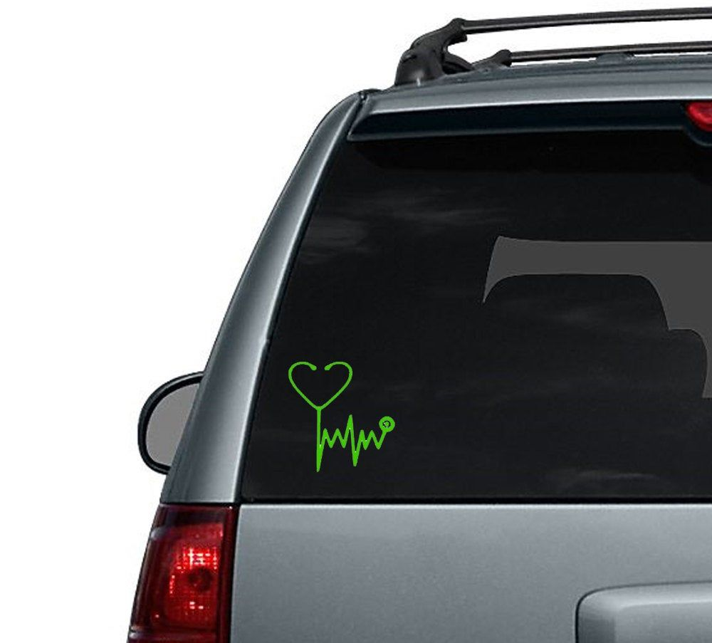 Nurse Or Doctor Stethoscope Car Decal Computer Sticker Etsy Computer Sticker Computer Decal Window Decals [ 903 x 1000 Pixel ]