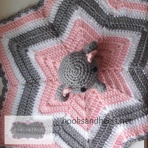 Elephant Lovey 5 Baby Crochet Pinterest Crochet Blanket And