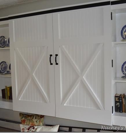 Remodelaholic Barn Door Cabinet Barn Door Cabinet Diy Barn Door Home