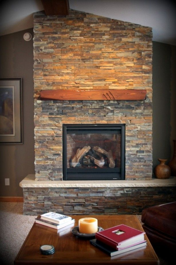 Fireplace Design fireplace wall ideas : Interior, Small Wooden Table And Fireplace Shelf Plus Slate ...
