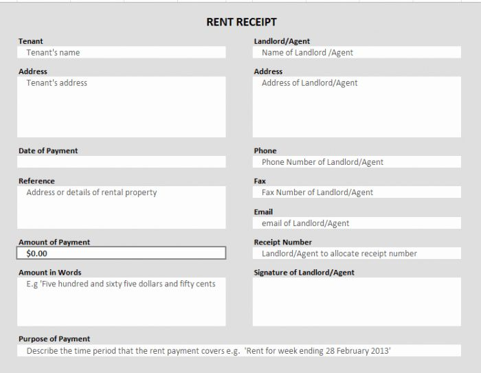 Rent Payment Receipt Template Awesome 50 Free Receipt ...
