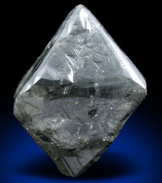 Uncut Rough Diamond 26 52 Carat Gray Octahedral Crystal