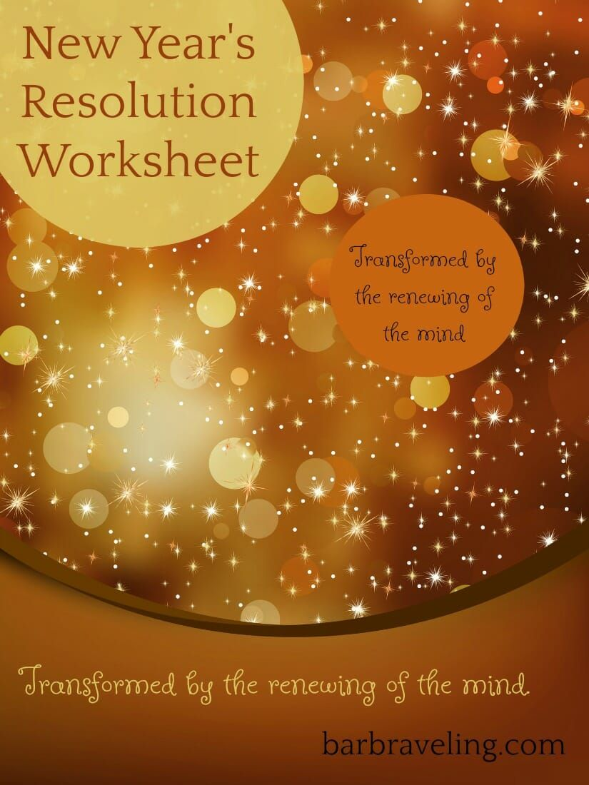New Year S Resolution Worksheet Bible Study Plans New Years Resolution Bible Study Tips