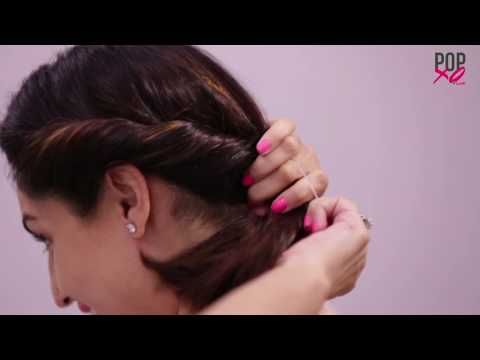 3 Pretty Bun Hairstyles For Short Hair Popxo Youtube Indian Bun Hairstyles Short Wedding Hair Medium Length Hair Styles
