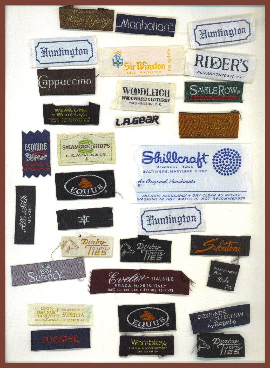 Vintage Designer Labels Etiket