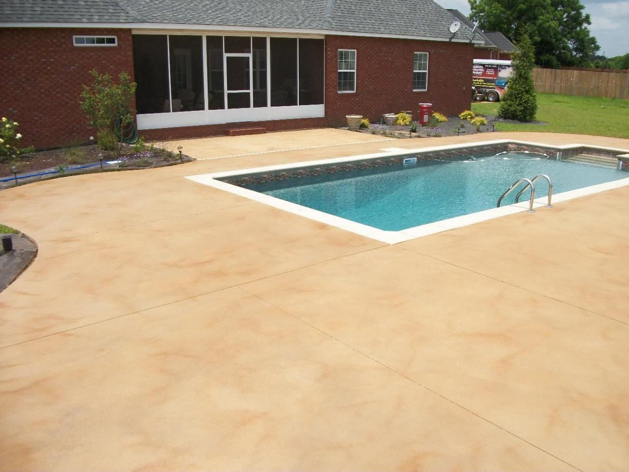 Photo Gallery 3 Concrete Stain Patio Swimming Pool Decks