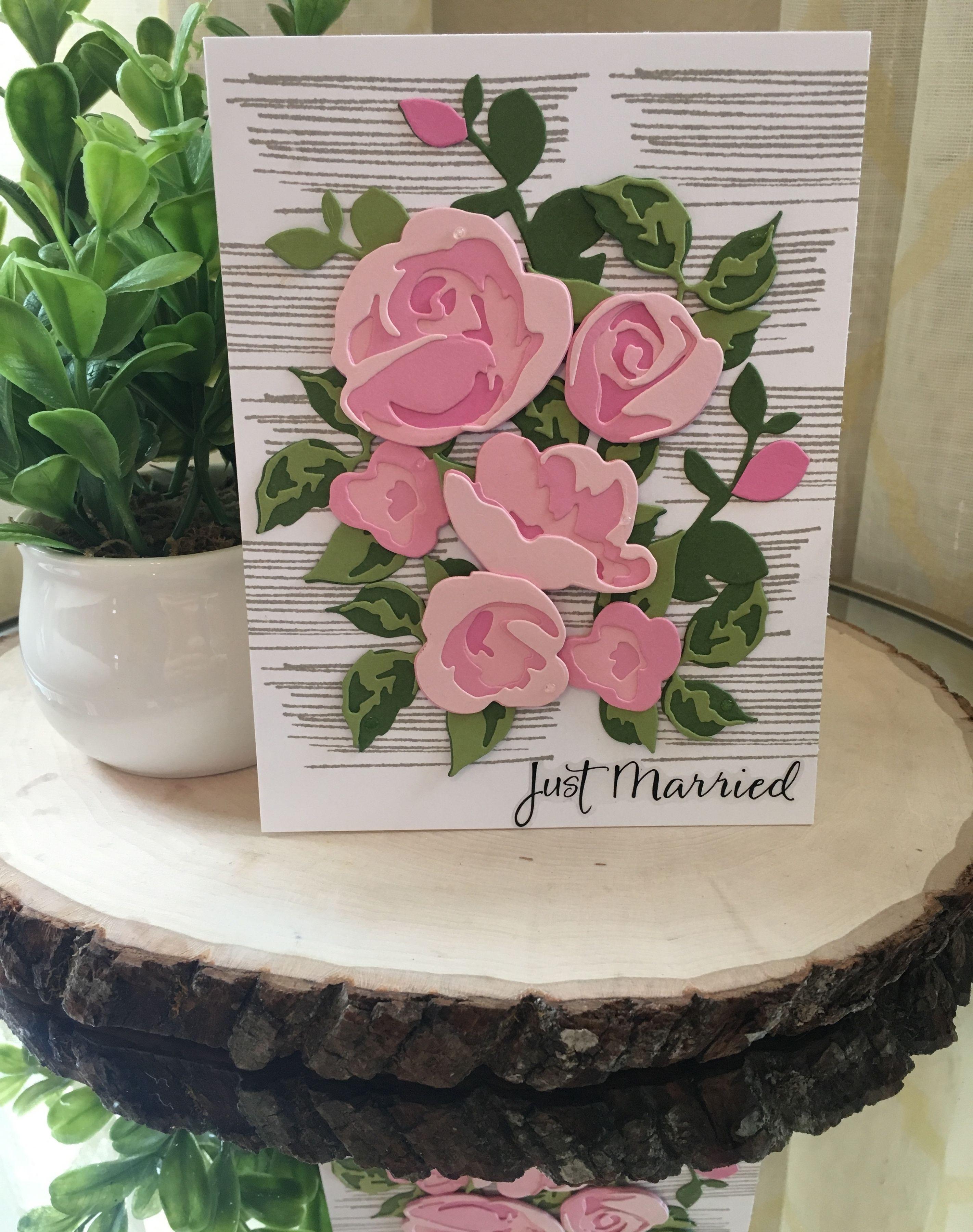Papier Rose meurt-belle-Layered