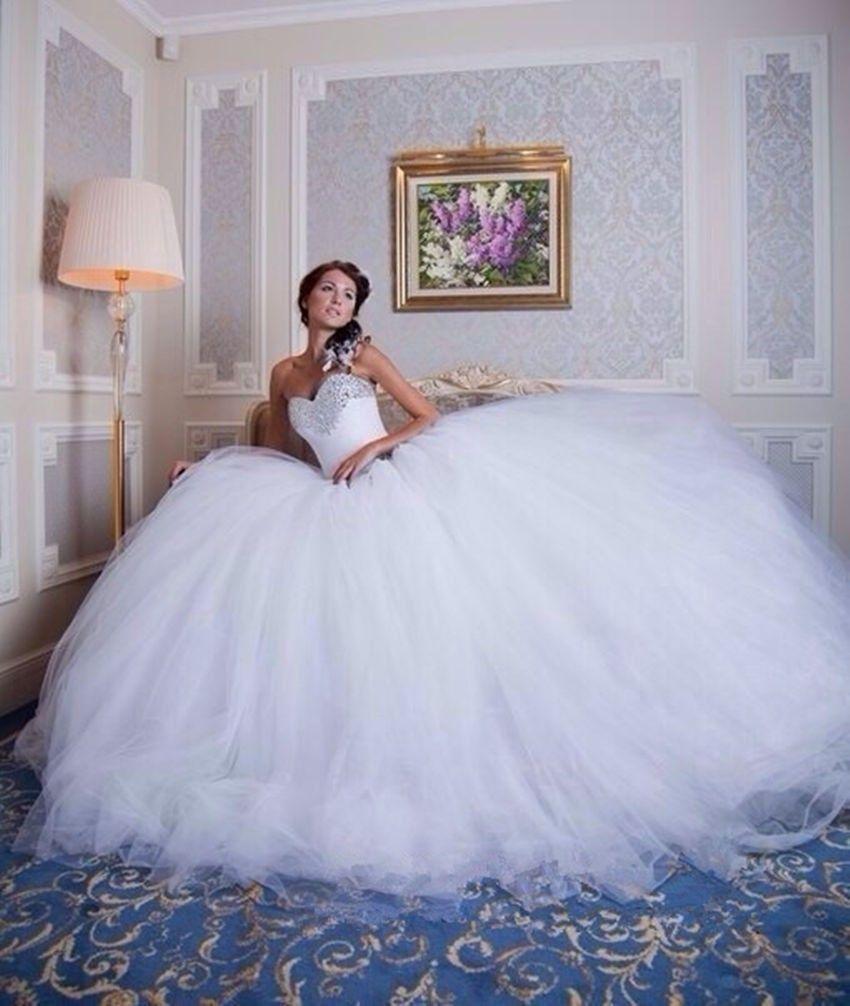 robe de mariée princesse en tulle et strass