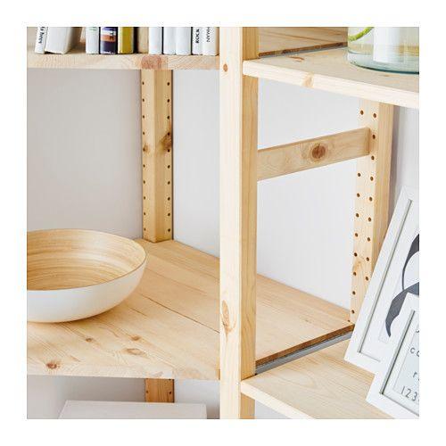 combiner des tag res ivar montants peints blancs. Black Bedroom Furniture Sets. Home Design Ideas