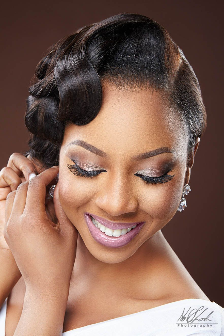 imelda of beauty boudoir - black bride makeup - bellanaija