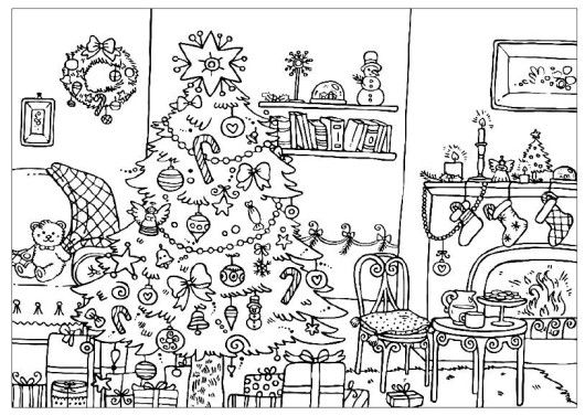 advanced coloring pages christmast | Christmas coloring ...