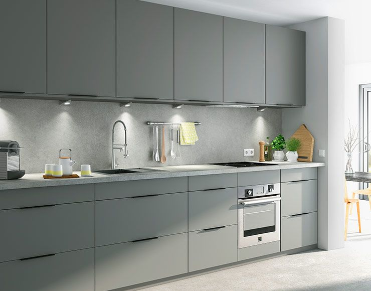 La Cuisine Ice Poivre Grise Ajoute Une Note Poivrée Pour Une - Castorama meuble cuisine pour idees de deco de cuisine