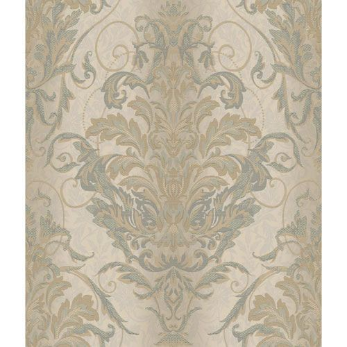 York Wallcoverings Charleston Silvery Beige And Taupe