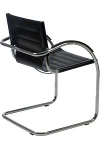 Incredible The Daniela Leather Guest Chair Is A Modern Styled Visitors Machost Co Dining Chair Design Ideas Machostcouk