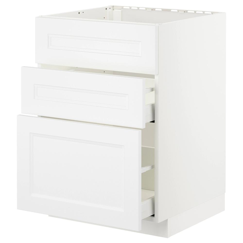 Metod Maximera Elt Bas Pr Evier 3faces 2tiroirs Blanc Axstad Blanc Mat Ikea Ikea Evier Blanc