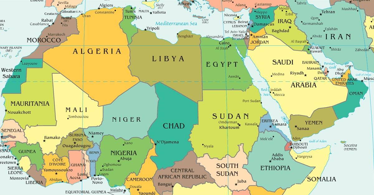 The Arab World Map
