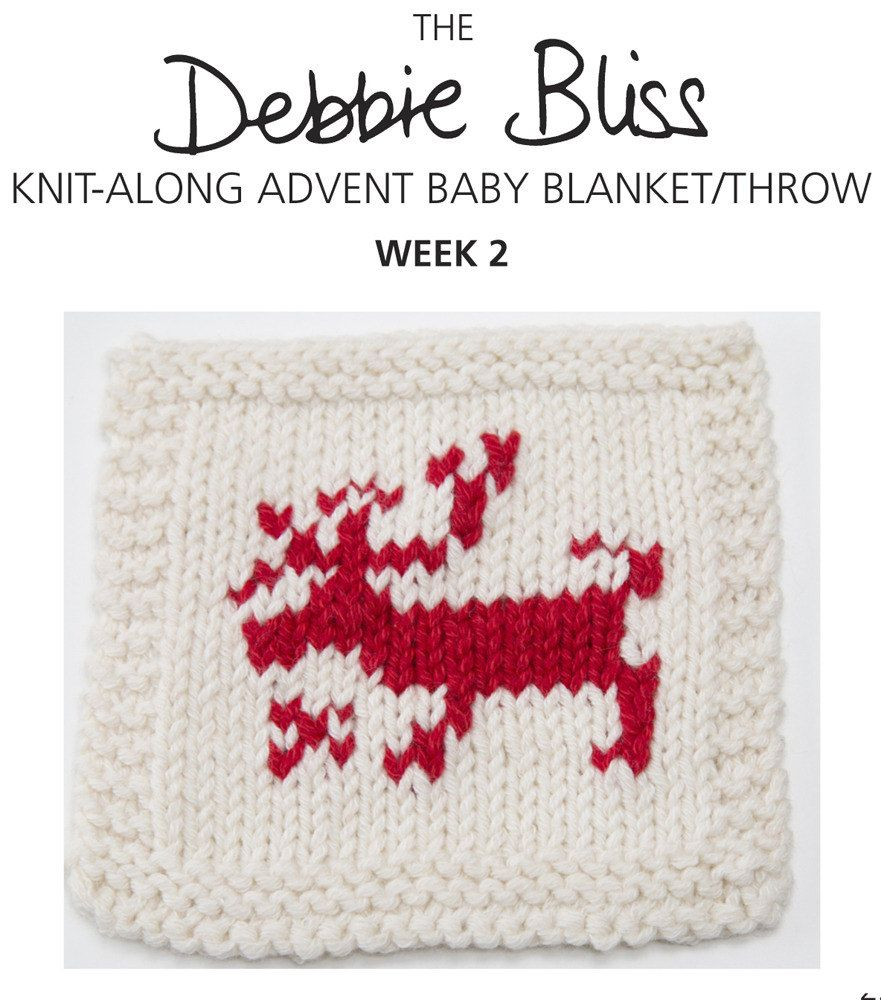 Knit-Along Advent Baby Blanket Week 2 in Debbie Bliss Mia. Discover ...