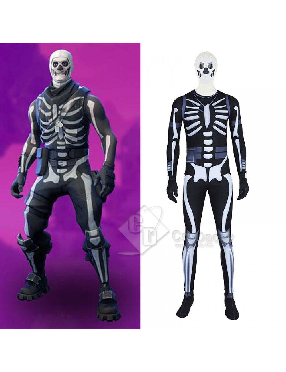 Fortnite Skull Trooper Jumpsuit Cosplay Costume Fortnite