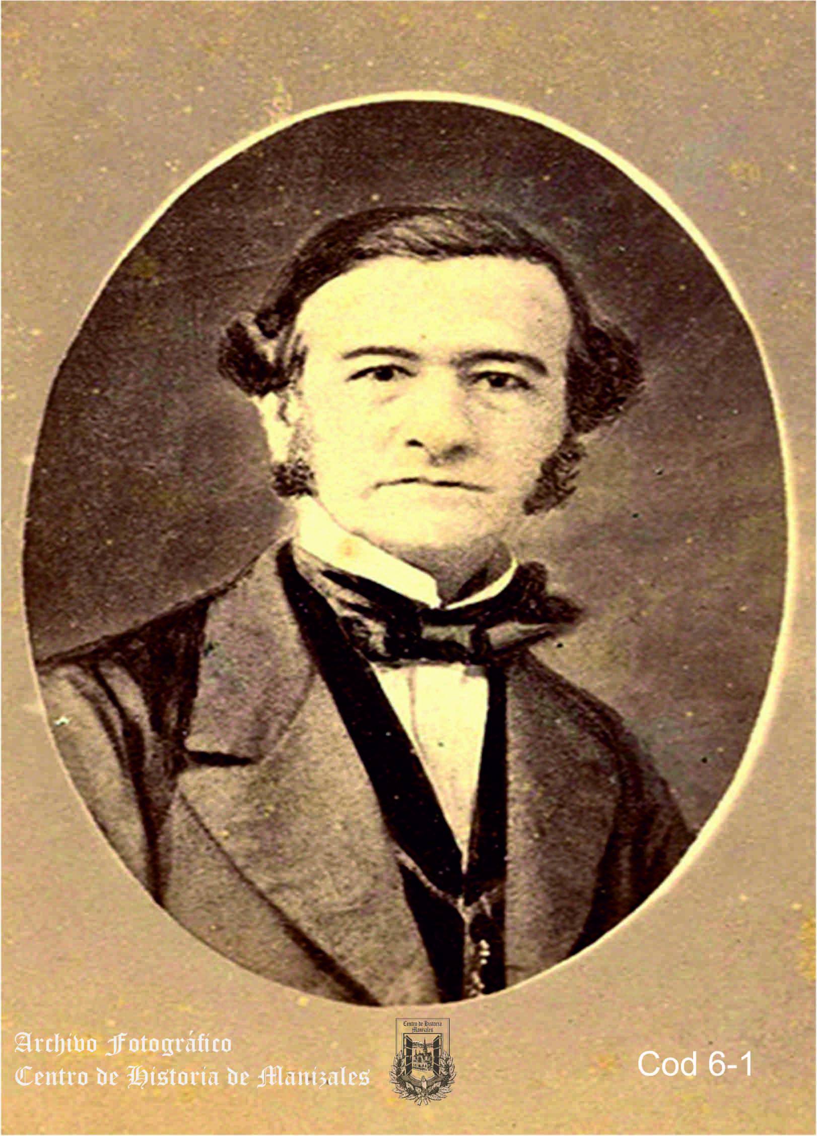 Jorge Gutiérrez de Lara, Gobernador de Antioquia que sancionó la orden de fundación de Manizales el 12 de octubre de 1849.