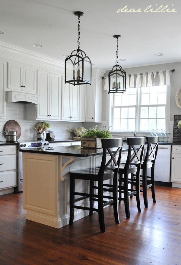 My Parentsu0027 Kitchen By Dear Lillie. Lantern Pendants: Ballard Design Wall  Color: Revere Pewter, Like Lighting, Cabinets And Countertops