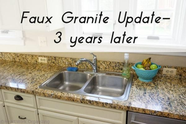 Faux Granite Counter Update: 3 Years Later. Love this product from ...