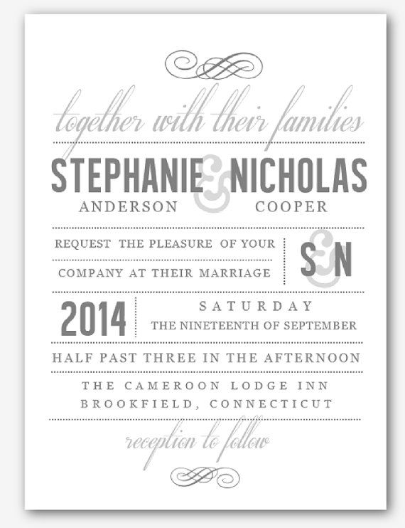 DIY Printable MS Word Wedding Invitation Template W048 by Inkpower - ms word invitation templates