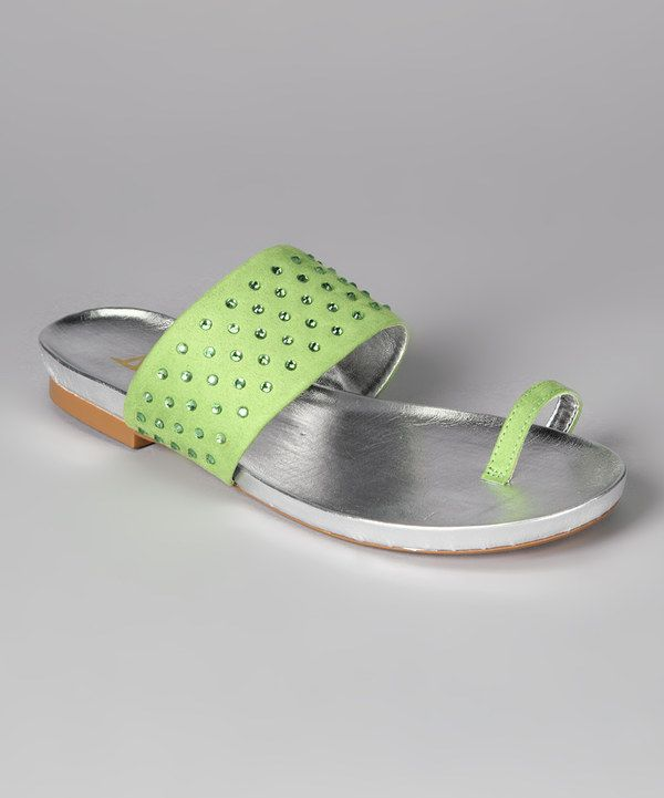 Look at this Lime Rhinestone Baku Sandal on #zulily today!