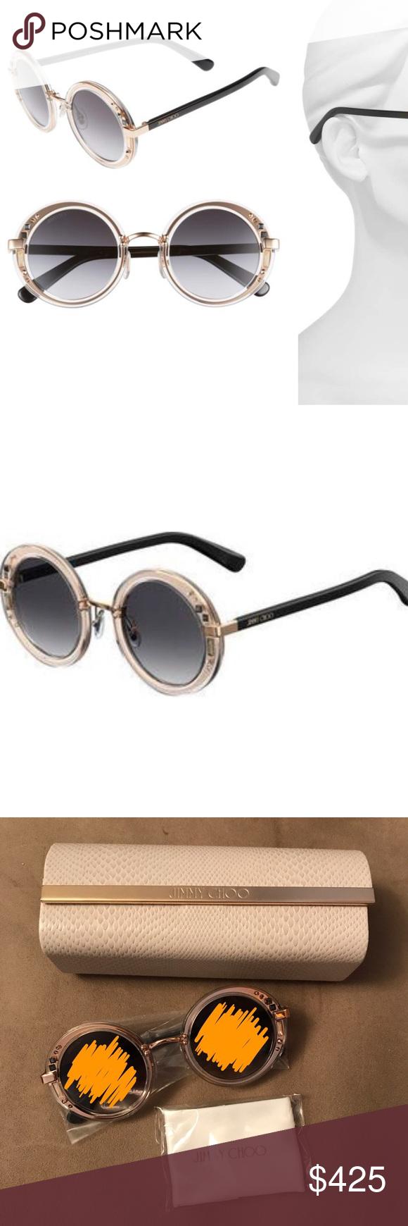 a49bef33ea2 NWOT NIB jimmy choo GEM sunglasses rose gold black Brand new sunglasses by jimmy  choo