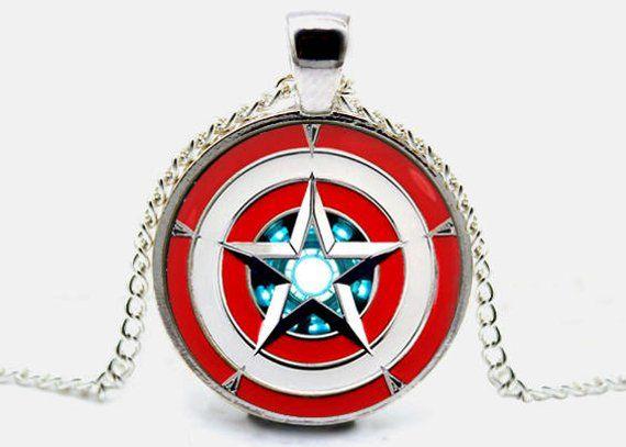 Iron Man Arc Reactor Blaue hängende ohrstecker verSilber ohrringe Marvel