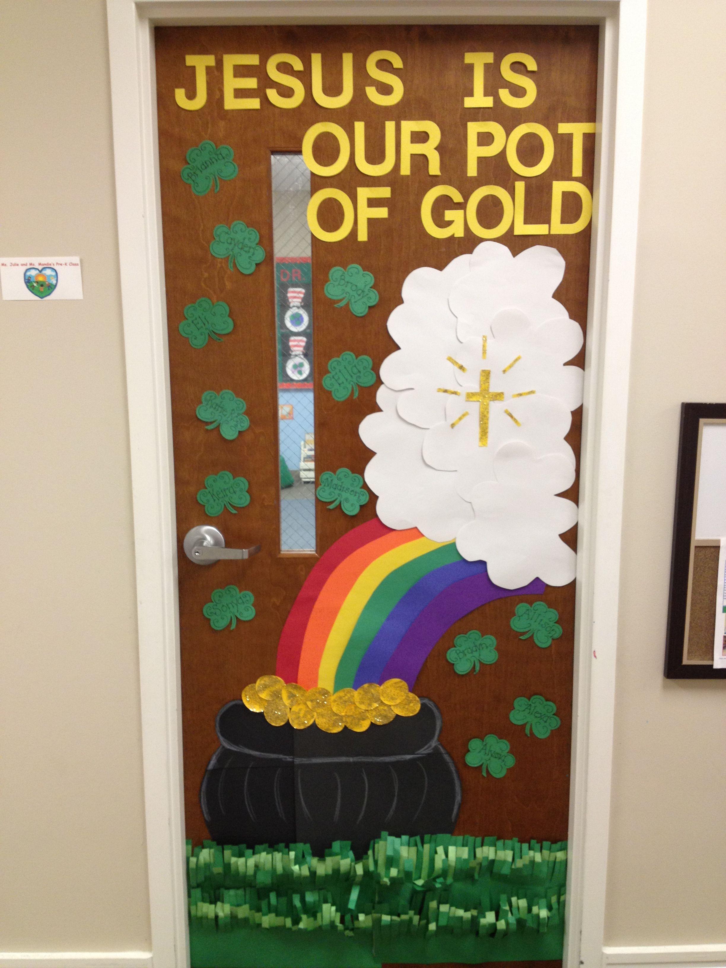 St Patrick S Day Preschool Door Preschool Crafts St Patrick S